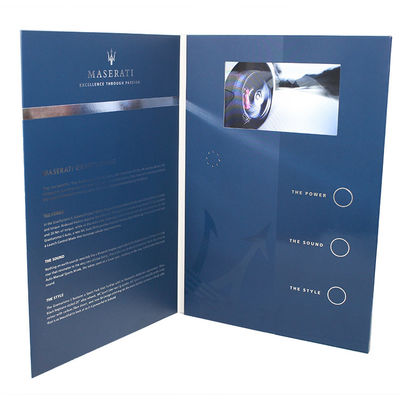 CE ROHS  Video LCD Brochure Custom Printing Paper Crafts With A5 Real Estate Touch Screen