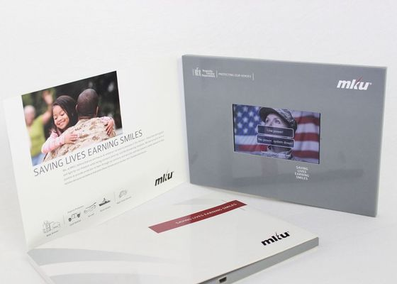 Bespoke TFT Screen LCD Video Brochure for wedding Invitation , Full colors